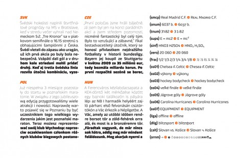 Typeface System for Sports