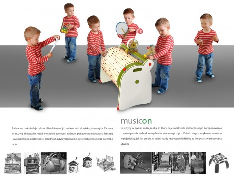 Musicon – A Set of Objects to Inspire Children to Make Music