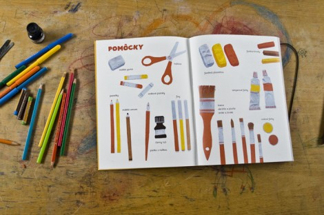 A visual art textbook for elementary schools