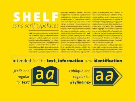 Shelf information text typeface