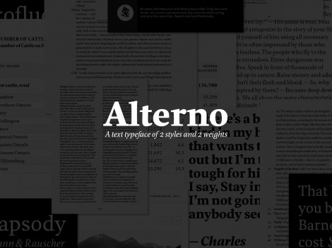 """Alterno"" typeface design"