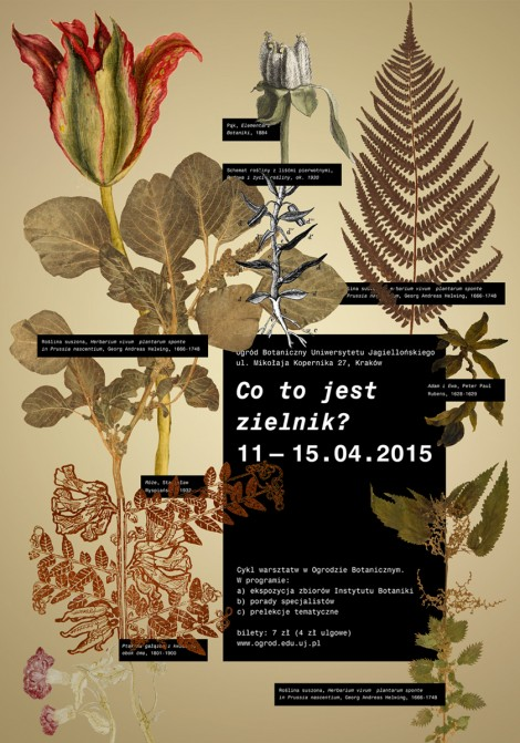 Design of Selected Visual Information Components for the Botanical Garden of the Jagiellonian University in Kraków