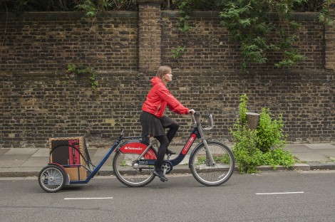 Bike cargo trailer for Londoners