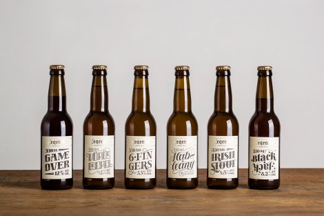 Visual identity system for craft beers